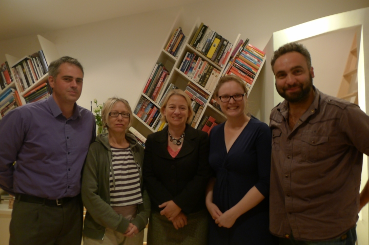 Green Party Leader Natalie Bennett visits Cressingham Gardens Estate